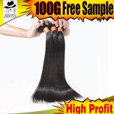 Прямой соткать человеческих волос бразильских волос девственницы