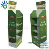 Robuste de haute qualité de la Chine MDF Affichage papier carton rack avec 4 étagères Flooring Afficher Pop Présentoir pour produits de soins personnels