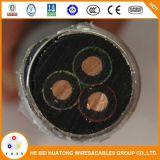 Câble pour pompe à huile de submersibles de câble d'alimentation ESP de type EPDM Gaine Nbr d'isolement 3*10mm2 Sbumersible plates ou rondes câble de la pompe à huile