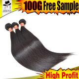 Muito compra do cliente o natural em linha reta do cabelo brasileiro