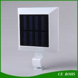 Im Freienzaun-Lampe, angeschaltenes Solarlicht der Wand-650lm