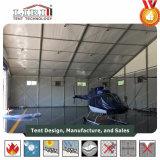 Hangares de aeronaves em PVC branco tenda 30 X 30 m de vão livre para o exército Militar