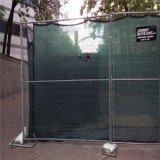 6 футов x 10 фута временные звено цепи (в тени ткань) /строительство временного Ограждения панели