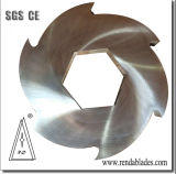 Triturador de eixo duplo Círculo Circular de corte da lâmina de plástico de pneus de borracha/Anel Espaçador Redondo da Faca