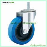 De forma diferente elástica de goma azul rueda giratoria con diferente carga