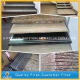 실내 외부를 위한 Antislip 대리석 화강암 또는 현무암 또는 석영 돌 똑바른 단일 단계 보행 층계