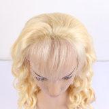 Peruca cheia do cabelo louro da cor #613 da peruca do cabelo humano do laço de Glueless da densidade nova frouxa euro-asiática do estilo 130% do projeto da onda