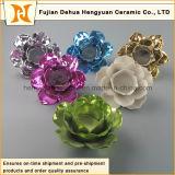 Suporte de vela cerâmico colorido da forma da flor (Home Decorativo)