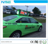 Visualización de LED de la tapa del taxi del alto brillo P5 para hacer publicidad de la pantalla