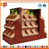 A fruta e verdura de madeira do supermercado arquiva as unidades da cremalheira de indicador (Zhv55)