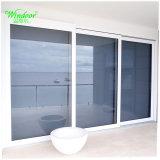 미국은 고품질 백색 색깔 PVC 미닫이 문을 유행에 따라 디자인 한다