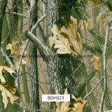Пленки печатание перехода воды Camo листьев, гидрографические пленки печатание, пленки PVA для пушек и автомобили (BDH322)