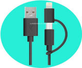 2 в 1 USB Connector Pin Female Micro Data Cable 8