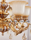 Iluminación de cristal lujosa cristalina de bronce de la lámpara para la decoración D-6131/3 de la sala