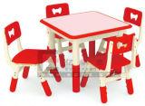 4-Seaters красный пластиковый стол и стул для детей (SF-17K-5)