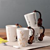 Romotionalはロゴのコーヒーカップの陶磁器陶磁器のティーカップのマグのコップをカスタマイズした