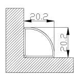 Europäische Art-Aluminiumprofil-Gehäuse für LED-Streifen-Licht