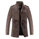 Men&acute ; Jupe occasionnelle de jupe de S d'hommes de longue d'unité centrale jupe en cuir mince de moto