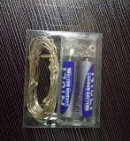 Stringhe d'argento a pile della festa di Natale della batteria del collegare di rame LED di aa