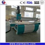 Hochleistungsmaschinen-Stich u. Ausschnitt der holzbearbeitung-1325 CNC-Fräser mit Suchvorgang des Scan-Randes