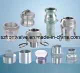 투자 Casting 또는 Precision Casting Stainless Steel Screwed Equal Tee