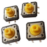 SGS iluminado tato Dust-Proof coloridos Miniture Spst PCB Interruptor LED impermeável electrónica
