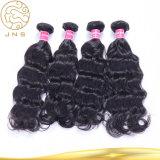 中国の安く卸し売り加工されていなく自然なインドのバージンの黒の人間の海外毛のよこ糸