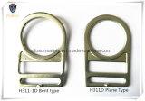 Acier galvanisé anneaux en forme de d en double fente