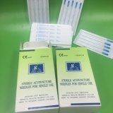 Pega de Aço Inoxidável estéreis descartáveis de agulhas de acupuntura com tubo