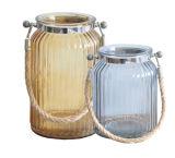 Vaso di vetro decorativo di /Home del vaso di vetro variopinto portatile
