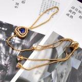 실제적인 금 도금된 구리 형식 여자 지르콘 종려 팔찌 R961