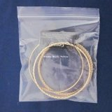 Sac de conditionnement de bijoux cadeau en PVC transparent personnalisé