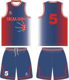Plein basket-ball Jersey de sublimation de teinture de Healong toute coutume de couleur