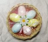 Decorazioni esterne dell'uovo di Pasqua Di festival con il cestino