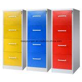 Two-Tone Möbel-Metallaktenspeicherungs-vertikalen Büro-Datei-Sicherheitsschloss-Faltblatt-Stahlschrank Anti-Kippen