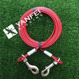 3/32 '' - 5/32 '' medium Size Dog Tie out Cable with Construction 7*7