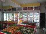 Индикация двери оборудования супермаркета стеклянная, охладитель бутылки