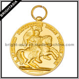Popular su ordinazione Medal con Antique Brass Plating (BYH-10843)