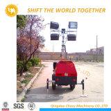 El departamento de ingeniería móvil móvil del vehículo de iluminación de la Torre de Luz
