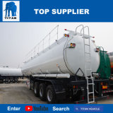 El tanque diesel del titán de 50000 litros del combustible de petrolero del carro del petróleo acoplado del tanque de petróleo del tanque y de palma del acoplado semi