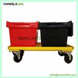 경첩을 단 뚜껑 플라스틱 이동하는 운반물 상자
