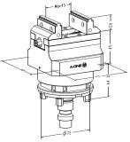 CNC 소형 정밀 조정 밀링 머신 바이스 (ITS50)