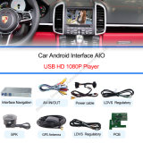 1080P Android Navigation Box + Video Interface Compatible mit Porsche-Macan, Cayennepfeffer, Panamera