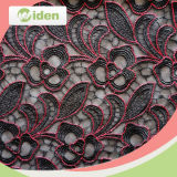 Red and Black Color Net Laço Bordado Cortina Lace Tecido