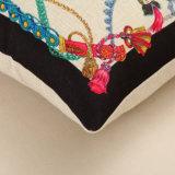 Funda de almohada tirar la ropa de algodón grueso Imprimir Funda de cojín decorativo 150g