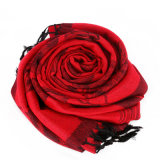 Polyester-Frauen-Blumen-sterbender Schal-eleganter weicher Schal 100%