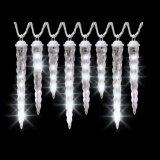 Eisiges weißes Schießen-Stern-mannigfaltiges Größen-Eiszapfen-Licht
