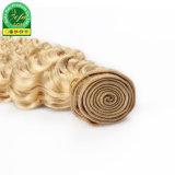 Trama 613 loira cabelos crespos brasileira de cabelo humano Remy Hair
