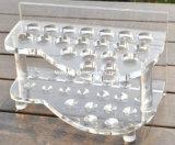 Bandeja acrílica de suporte para vidro de vinho de vinho