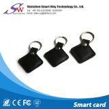 Couro feito sob encomenda RFID Keychain com microplaqueta T5577